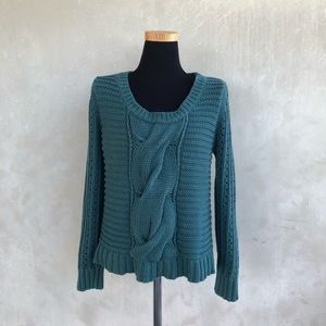 [BCBGeneration]chunky cable knit cropped sweater